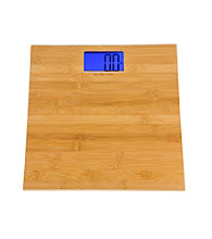 Kalorik Bamboo Finish Electronic Bathroom Scale