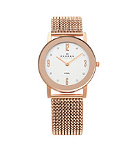 Skagen Denmark Stretch Mesh Watch - Rose Gold