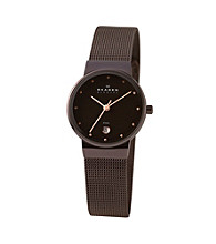Skagen Denmark Stretch Mesh Watch - Brown