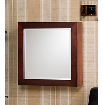 Holly & Martin™ Brielle Cherry Square Wall-Mounted Jewelry Armoire