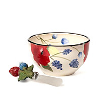 Pfaltzgraff Scarlett Dip Bowl with Spreader