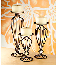 The Pomeroy Collection Modis Pillar Candleholder Set