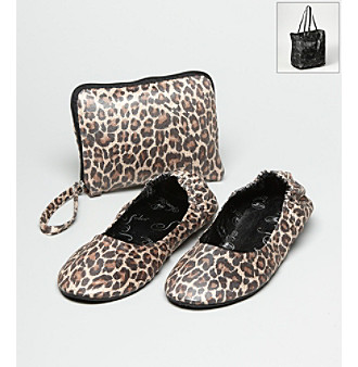 Spare Soles Travel Flats - Leopard