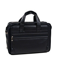 Kenneth Cole REACTION® Double Gusset Top-Zip Expandable Computer Case - Black