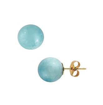Upc 617892438622 Product Image For Effy 14k Yellow Gold Milky Aquamarine Earrings Upcitemdb