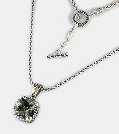 Effy® Balissima 18K Yellow Gold/Silver Green Amethyst Necklace