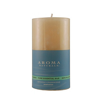 Fragrance Net Aroma Naturals Meditation Aromatherapy Pillar Candle