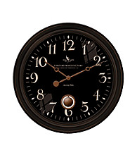 FirsTime Ashby Black Wall Clock