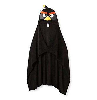 Angry Birds™ Black Hooded Blanket