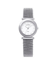 Skagen Denmark Women's Silver Stretch Mesh Watch