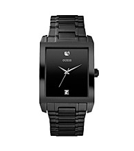 Guess Men's Classic Rectangle Diamond Watch