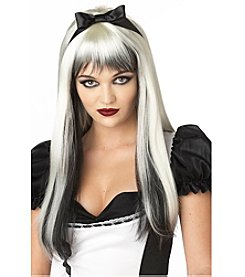 Enchanted Tresses Black and White Synthetic Adult Wig