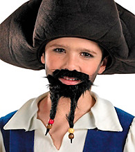Pirates of the Caribbean 4: On Stranger Tides - Child's Pirate's Hat with Mustache and Goatee