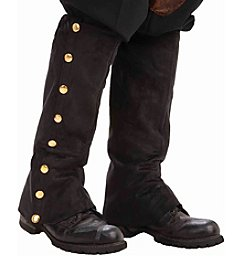 Steampunk Male Adult Black Spats