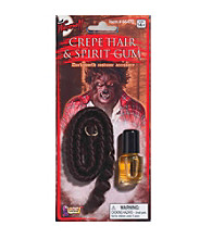 Crepe Werewolf Hair and Spirit Gum Set