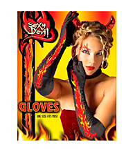 Hot Glam Devil Adult Gloves