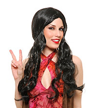 Black Flower Child Synthetic Adult Wig