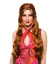 Brown Flower Child Synthetic Adult Wig