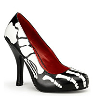 Skeleton Women's Adult Patent Shoes
