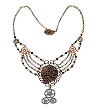 Steampunk Gear Chain Antique Adult Necklace