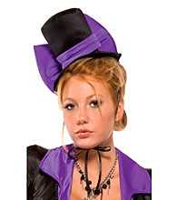 Purple Bow Vampire Adult Hat