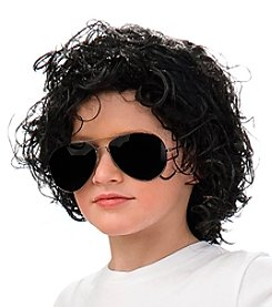 Michael Jackson™ Curly Synthetic Child Wig