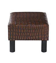 Holly & Martin™ Gerard Alligator Print Foot Stool