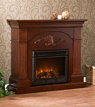 Holly & Martin™ Salerno Mahogany Electric Fireplace