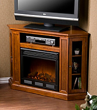 Holly & Martin™ Ponoma Brown Mahogany Media Console & Electric Fireplace