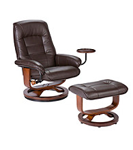 Holly & Martin™ Hemphill Brown Recliner & Ottoman