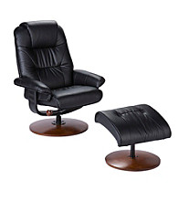 Holly & Martin™ Parrish Black Recliner and Ottoman