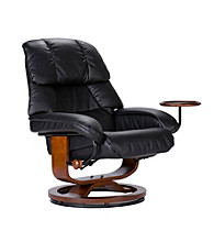 Holly & Martin™ Canyon Lake Black Recliner and Ottoman