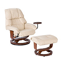 Holly & Martin™ Canyon Lake Taupe Recliner and Ottoman