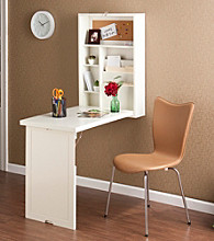 Holly & Martin™ White Leo Fold-Out Convertible Desk
