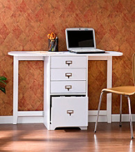 Holly & Martin™ Paige White Fold-Out Organizer & Craft Desk