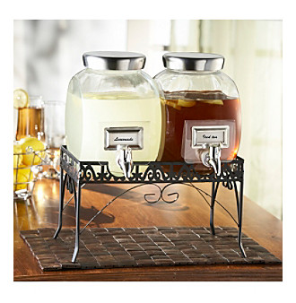 Crystal Clear® Stylesetter Williamsburg Double Beverage Dispenser