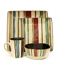 American Atelier Canyon Stripes 16-pc. Dinnerware Set