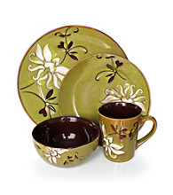 American Atelier Mirabel Green 16-pc. Dinnerware Set
