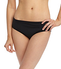 Coco Reef® Black Solids High Waist Swimwear Bottoms