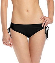 Coco Reef® Solids Black Side Cinched Swimwear Bottom