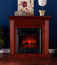 Holly & Martin™ Bastrop Petite Convertible Mahogany Electric Fireplace