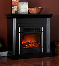 Holly & Martin™ Bastrop Petite Convertible Electric Fireplace-Black
