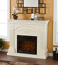 Holly & Martin™ Salerno Electric Fireplace-Ivory