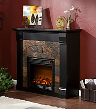 Holly & Martin™ Underwood Electric Fireplace-Black
