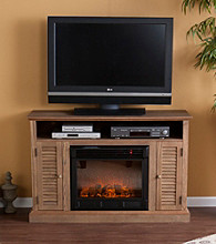 Holly & Martin™ Savannah Media Electric Fireplace-Weathered Oak
