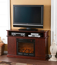 Holly & Martin™ Fenton Media Electric Fireplace-Cherry