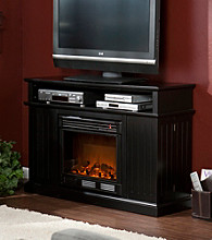Holly & Martin™ Fenton Media Electric Fireplace-Black