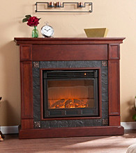 Holly & Martin™ Tavola Electric Fireplace-Cherry