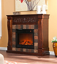 Holly & Martin™ Calgary Electric Fireplace-Espresso