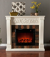 Holly & Martin™ Calgary Electric Fireplace-Ivory